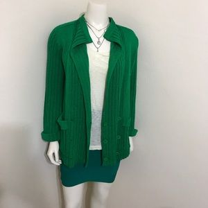Missoni Bright Green Silk Cardigan Sweater S 2 4